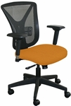 Fermata Executive Mesh Chair with Black Base - Orange Fabric [WMCEXFB-F6551-FS-MVL]