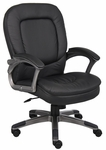 Executive Mid Back Pillow Top Chair with Adjustable Tilt Tension - Black [B7106-FS-BOSS]