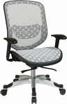 Space Executive DuraFlex with Flow-Thru Technology™ Back and Seat Chair - White [829-R11C628P-FS-OS]