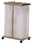 Expandable Mobile Plan Adjustable Vertical File Cart Center - Sand Beige [9429D5-FS-MAY]