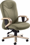 Experience High Back Tilter Chair with Wood Trim - Grade 3 [9521-4-GR3-FS-GLO]