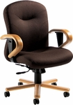 Experience Low Back Tilter Chair with Wood Trim - Grade 3 [9523-4-GR3-FS-GLO]