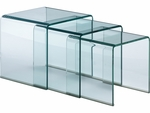 Explorer Nesting Table with Clear Glass [404104-FS-ZUO]