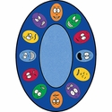 Expressions Oval Cut Pile Rug