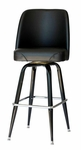 Exton Black Square Stool 19'' Black Bucket Seat [RBSFLGBKT-BLV-BFMS]