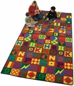 Rectangular Floors That Teach Extra Large Educational Nylon Rug