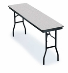F Series Seminar Particleboard Core Folding Table - 18''W x 60''L x 29''H [518F-MFT]