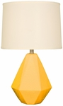 Splash Ceramic Faceted 24.75''H Table Lamp with Cream Linen Shade - Mimosa [12T275MM-FS-PAS]