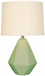 Splash Ceramic Faceted 24.75''H Table Lamp with Cream Linen Shade - Moss [12T275MS-FS-PAS]