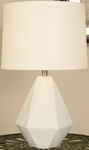 Splash Ceramic Faceted 24.75''H Table Lamp with Cream Linen Shade - Vanilla [12T275VA-FS-PAS]