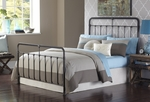 Fairfield Traditional Metal Bed with Frame - King - Dark Roast [B11066-FS-FBG]