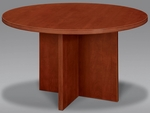 Fairplex 47'' Round Conference Table - Cognac Cherry [7005-721-FS-DMI]