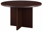 Fairplex 47'' Round Conference Table - Mocha [7004-721-FS-DMI]