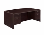 Fairplex Executive Bow Front Desk with .75 Peds [7004-37Q-FS-DMI]