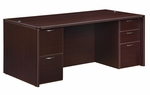 Fairplex Executive Desk - Mocha [7004-36-FS-DMI]