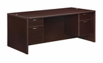 Fairplex Executive Desk with .75 Peds 71'' W [7004-36Q-FS-DMI]
