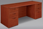Fairplex Executive Kneehole Credenza - Cognac Cherry [7005-21-FS-DMI]