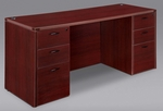 Fairplex Executive Kneehole Credenza - Mahogany [7006-21-FS-DMI]