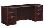 Fairplex Executive Kneehole Credenza - Mocha [7004-21-FS-DMI]