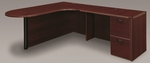 Fairplex Left Executive Corner Peninsula and Bullet L Desk - Mahogany [7006-46ECP-FS-DMI]