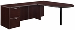 Fairplex Right or Left Executive Bullet L Desk [7004-4546E-FS-DMI]
