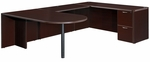 Fairplex Right or Left Executive Bullet U Desk - Mocha [7004-647648E-FS-DMI]