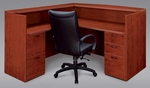 Fairplex Right or Left Reception Desk - Cognac Cherry [7005-6667-FS-DMI]