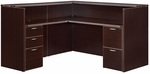 Fairplex Right or Left Reception Desk - Mocha [7004-6667-FS-DMI]