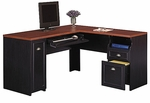 Fairview L-Shaped Computer Desk - Black [WC53930-03K-FS-BHF]