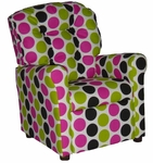 Kids Recliner with Button Tufted Back - Fancy Pink [400-FANCY-PINK-FS-BZ]