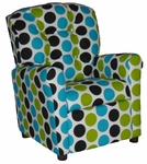 Kids Recliner with Button Tufted Back - Fancy Wild [400-FANCY-WILD-FS-BZ]