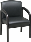 Work Smart Thick Padded Faux Leather Visitors Chair with Lumbar Support - Espresso [WD388-U6-FS-OS]