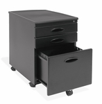 Mobile 15.75''W 22''D Locking 3 Drawer File Cabinet - Black [51100-FS-SDI]