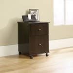 Mobile 2 Drawer Wooden File Cabinet with Casters - Cinnamon Cherry [410637-FS-SRTA]
