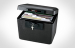 Fire Security Large Privacy Lock File - Black [1170-FS-SEN]