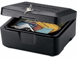 Fire Security Small Privacy Lock Chest - Black [0500-FS-SEN]