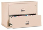 FireKing® 2-Drawer Lateral File,  37.5''W x 22.125''D,  UL Listed 350°,  Ltr/Legal,  Parchment [FIR23822CPA-FS-NAT]