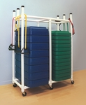 45''D X 19''W PVC Fitness Step Cart with Locking Casters [FSCRT-FS-DC]