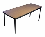 Fixed Height Classroom Table with Phenolic Water Resistant Back [LOB7071-FX-NSL]