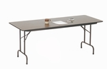 Fixed Height Rectangular High-Pressure Top Folding Table - 18''D x 48''W [CF1848PX-CRL]