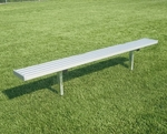Fixed Backless Player Bench with Steel Supports and Seat [BNF0701A-BIS]