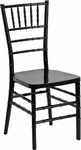 HERCULES PREMIUM Series Black Resin Stacking Chiavari Chair with Free Cushion [LE-BLACK-GG]
