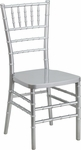 HERCULES PREMIUM Series Silver Resin Stacking Chiavari Chair with Free Cushion [LE-SILVER-GG]