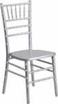 HERCULES Series Silver Wood Chiavari Chair with Free Cushion [XS-SILVER-GG]