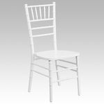 HERCULES Series White Wood Chiavari Chair with Free Cushion [XS-WHITE-GG]
