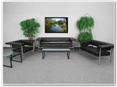 Flash Furniture Fusion Reception Series in Black