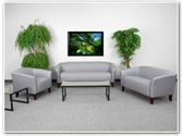 Flash Furniture Imperial Reception Series in Gray