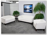 Flash Furniture Imperial Reception Series in White