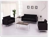 Flash Furniture Lacey Reception Series in Black