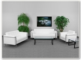 Flash Furniture Lesley Reception Series in White